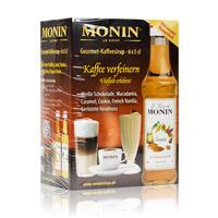 Monin Mini Coffee Set 6x5 cl Macadamia,Vanille,Haselnuss,Weiße Schokolade,Cookie