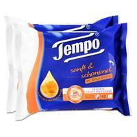 Tempo Feuchte Toilettentücher sanft & schonend Duo-Nachfüllpackung, mit Ringelblume 2x42er