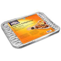 Toppits Express-Grillpfanne für knusprigeren und schnelleren Grillgenuß - 4 Bleche