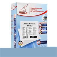 Wolf Staubsaugerbeutel Bosch, Siemens 0620 - aus Vlies - für Industriesauger - 5 Beutel