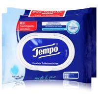 Tempo Feuchte Toilettentücher sanft & pur Duo-Vorteilspack  2x42er