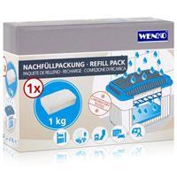 Wenko Nachfüllpackung Feuchtigkeitskiller Raum-Entfeuchter, 1 kg Granulat
