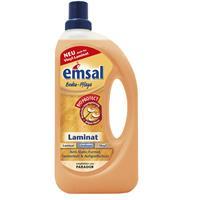 emsal Boden-Pflege Laminat 1 Liter mit Bioprotect - für Laminat, Linoleum & Vinyl