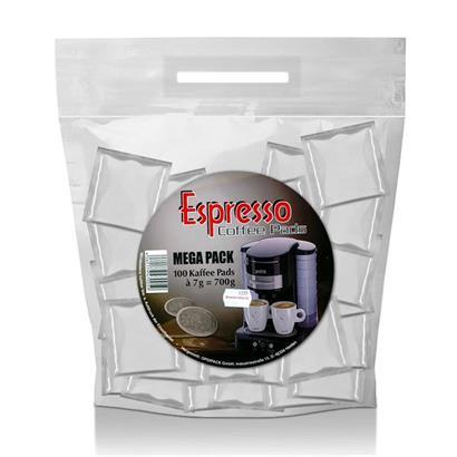 opdipack kaffeepads espresso megabeutel 100 stk auch f r. Black Bedroom Furniture Sets. Home Design Ideas