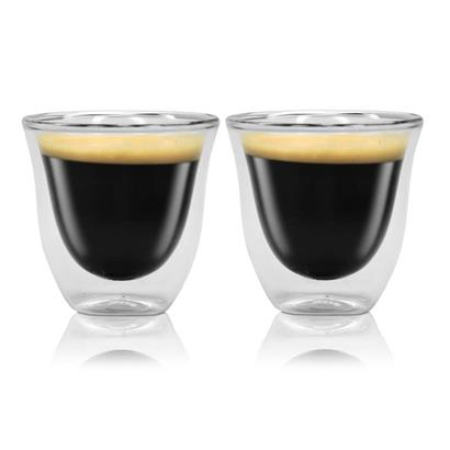 delonghi espresso kaffee 2er doppelwandiges thermoglas ebay. Black Bedroom Furniture Sets. Home Design Ideas