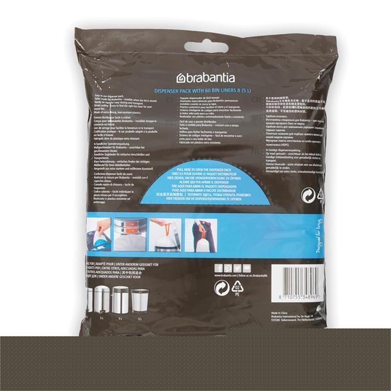 BRABANTIA Müllbeutel Spenderverpackung 5 l (B) 60 Stück