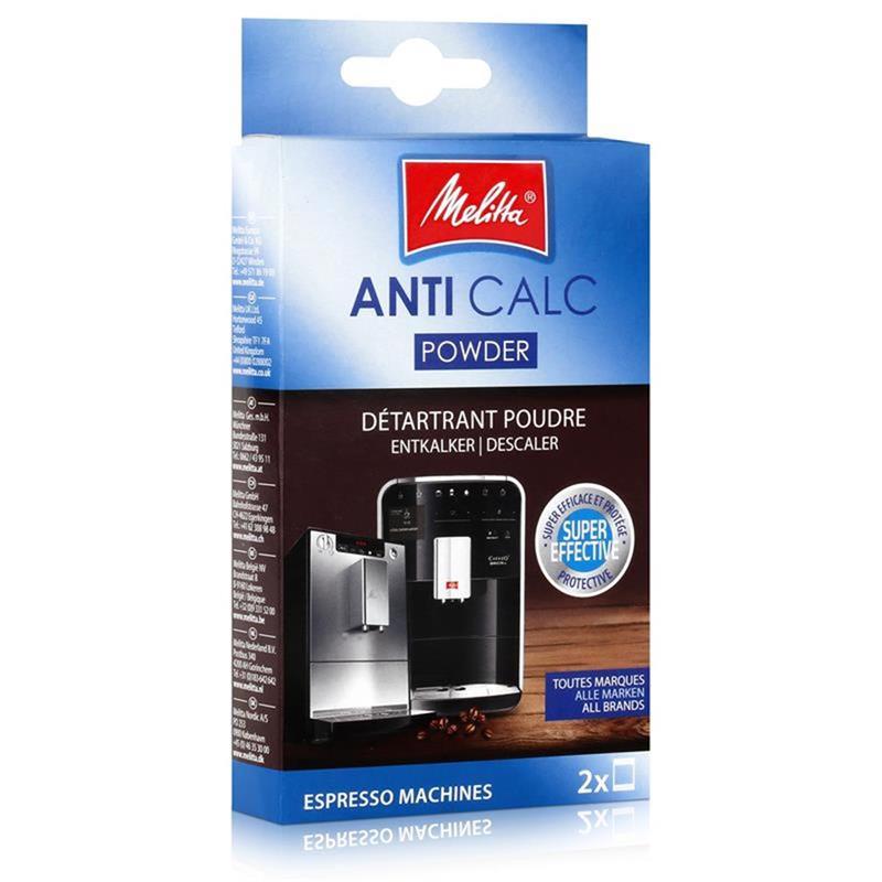 Melitta Anticalc Espresso Machines Entkalker Pulver 2x40g (1er Pack)