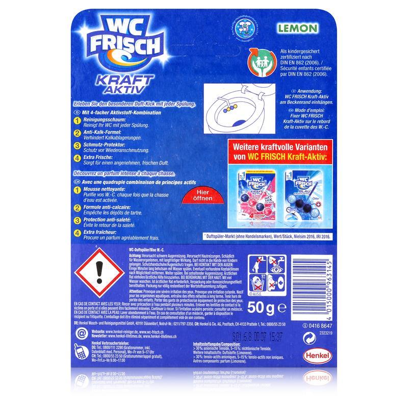 Henkel WC Frisch Kraft Aktiv Lemon mit 4-facher Aktivstoff-Kombination