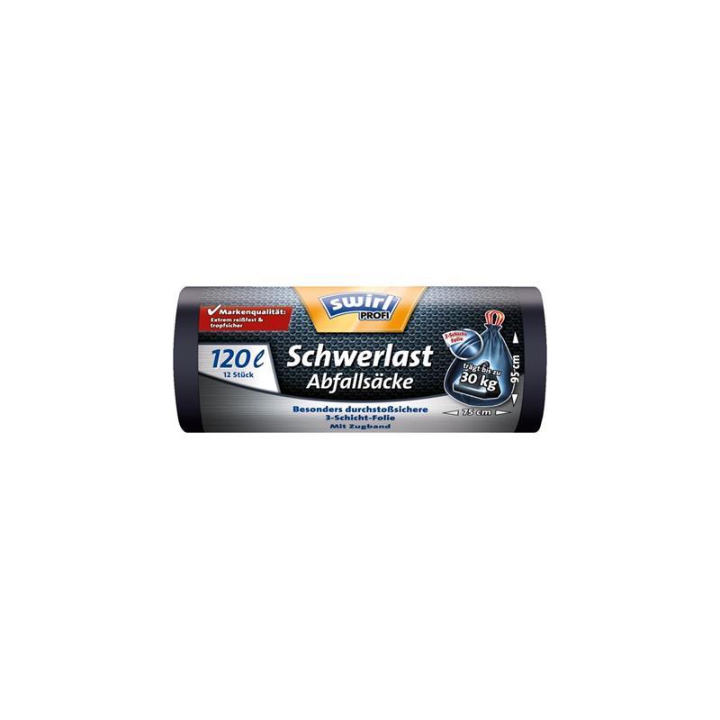 Swirl Schwerlast Säcke 120L 12 stk./ Rolle (1er Pack)