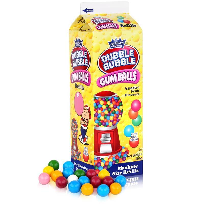 Dubble Bubble Gum-Balls Nachfüll-Packung Kaugummis für Kaugummi-Automaten