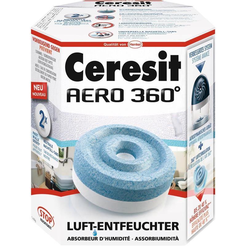 Henkel Ceresit Luft-Entfeuchter-Tabs AERO 360 Nachfüller 2x450g Granulat