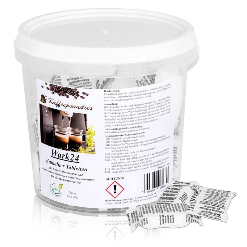 wark24 entkalker tabletten 50x16g f r kaffeevollautomaten. Black Bedroom Furniture Sets. Home Design Ideas