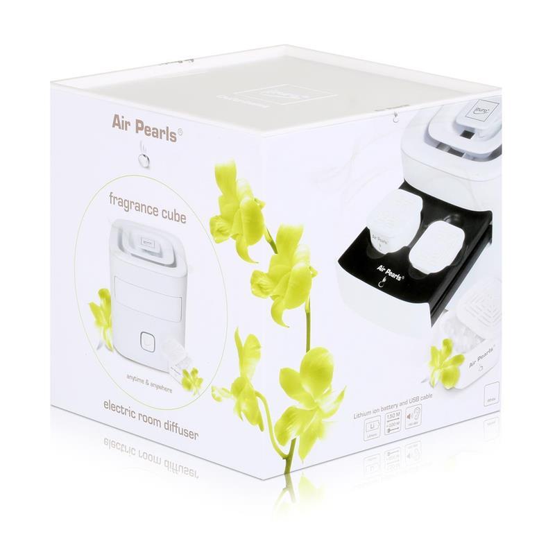 Air Pearl by ipuro elektrischer Raumbedufter Weiß - Design Cube (1er Pack)