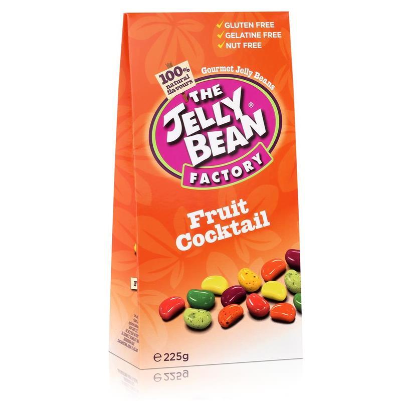 Jelly Bean Factory Fruit Cocktail 225g - Früchtecocktailmix Jelly Beans (1er Pack)