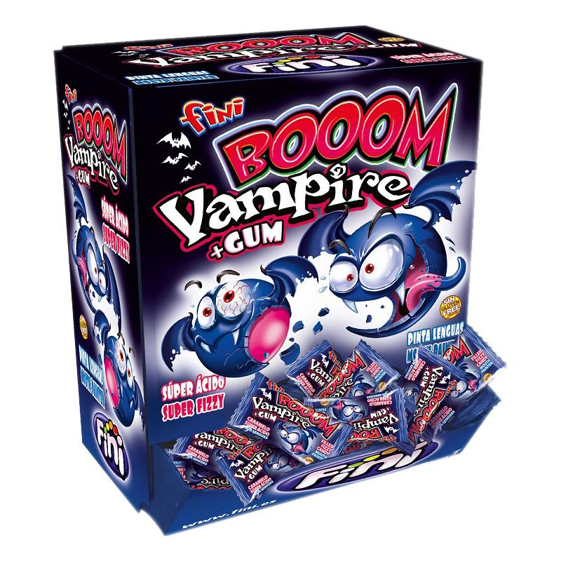 Fini Booom Bubble Gum Vampire 200 Stück - Bonbons mit Kaugummikern (1er Pack)