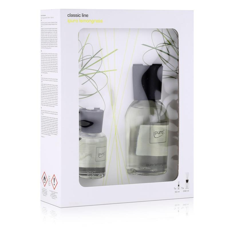 ipuro classic line lemongrass 240ml 50ml raumduft duftr ume 1er pack. Black Bedroom Furniture Sets. Home Design Ideas