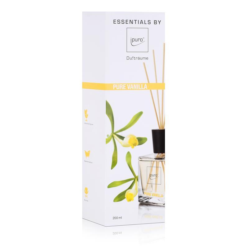 essentials by ipuro pure vanilla 200ml raumduft duftr ume 1er pack. Black Bedroom Furniture Sets. Home Design Ideas