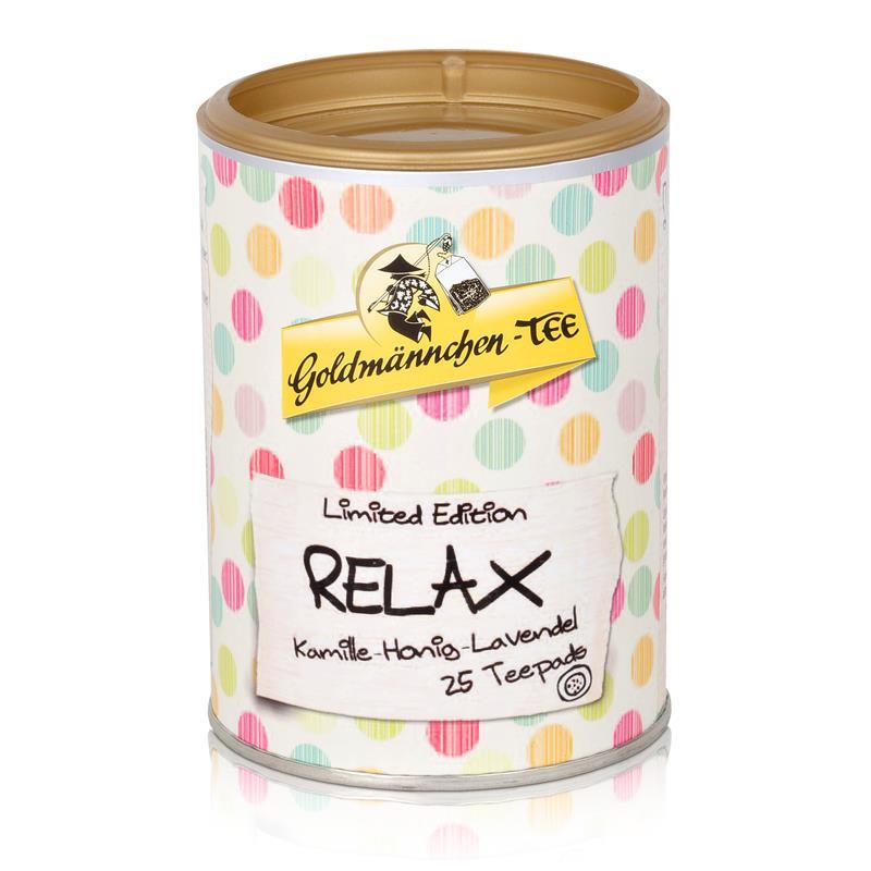 Goldmännchen-Tee Relax 25 Teepads 50g - Kamille-Honig-Lavendel (1er Pack)