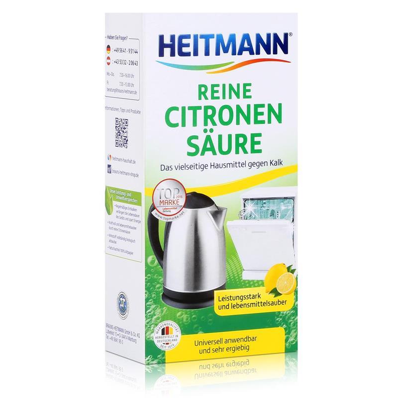 Heitmann Reine Citronen Säure 375g - Universell anwendbar gegen Kalk (1er Pack)