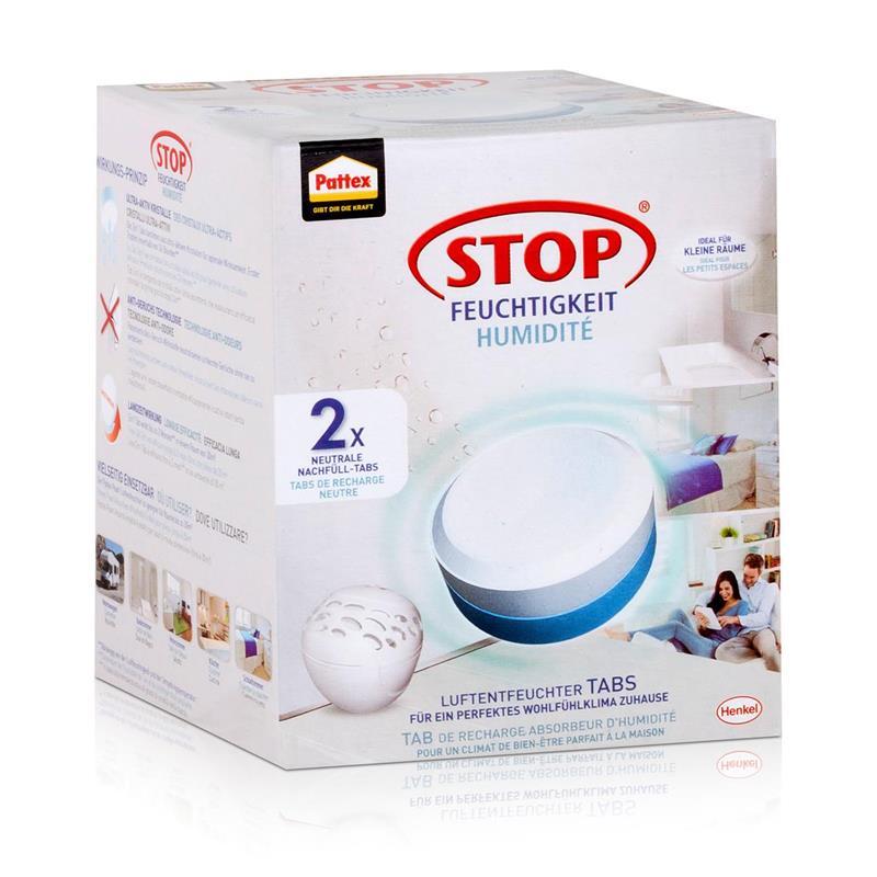 Henkel Pattex Stop Feuchtigkeit Pearl Luftentfeuchter Tabs - 2x300g (1er Pack)