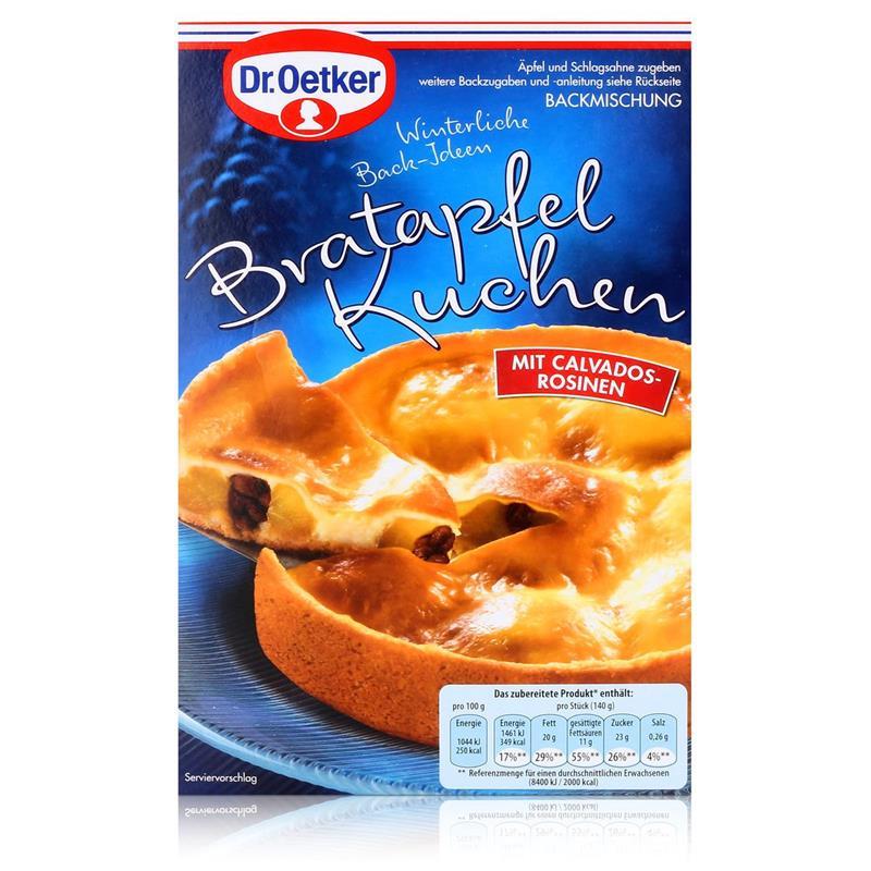 Dr Oetker Winterliche Back Ideen Bratapfel Kuchen Backmischung 415g