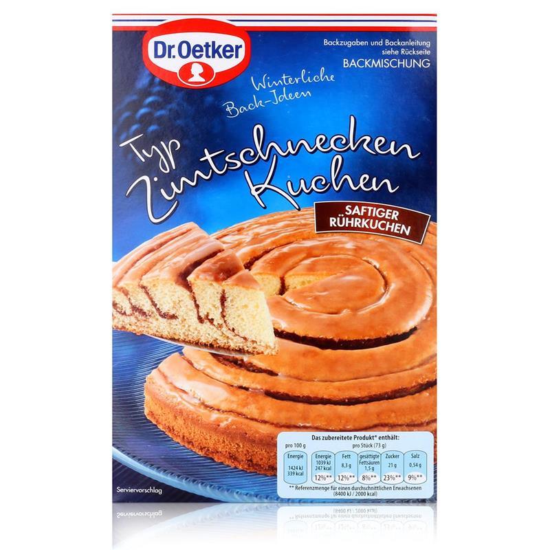 Dr.Oetker Winterliche Back-Ideen Zimtschnecken Kuchen