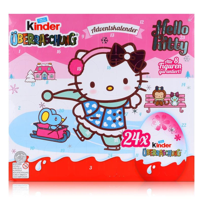 kinder berraschung adventskalender hello kitty 480g schokolade 1er pack. Black Bedroom Furniture Sets. Home Design Ideas