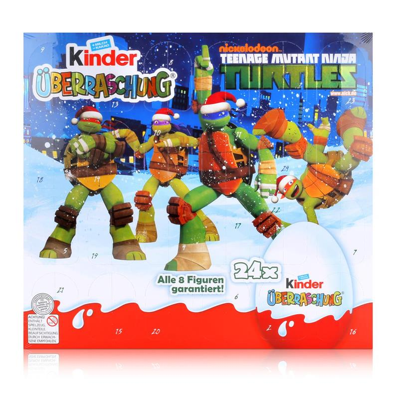 kinder berraschung adventskalender turtles 480g schokolade 1er pack ebay. Black Bedroom Furniture Sets. Home Design Ideas