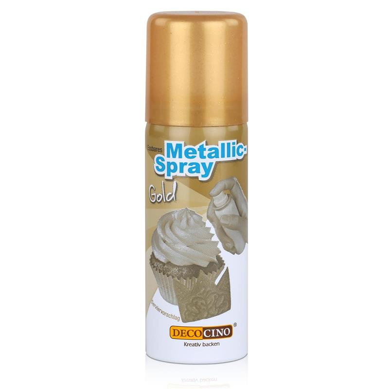 Dekoback Decocino Essbares Metallic-Spray Gold 50ml