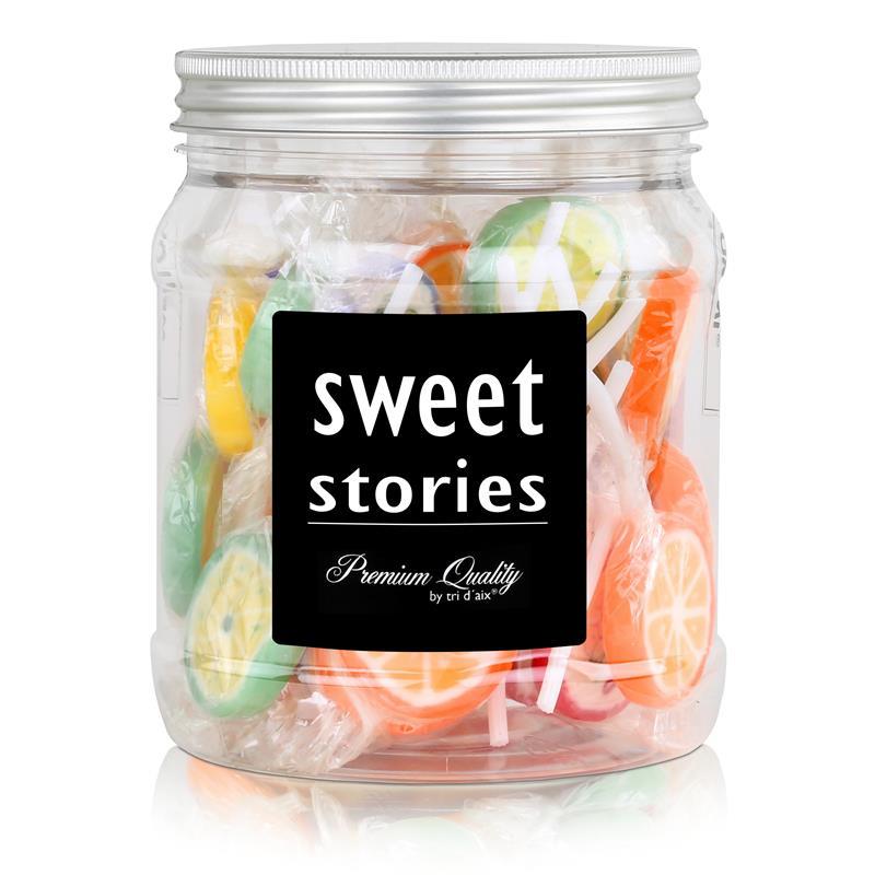 Sweet Stories Rocks Lollies Bunter Mix in der Retrodose 300g