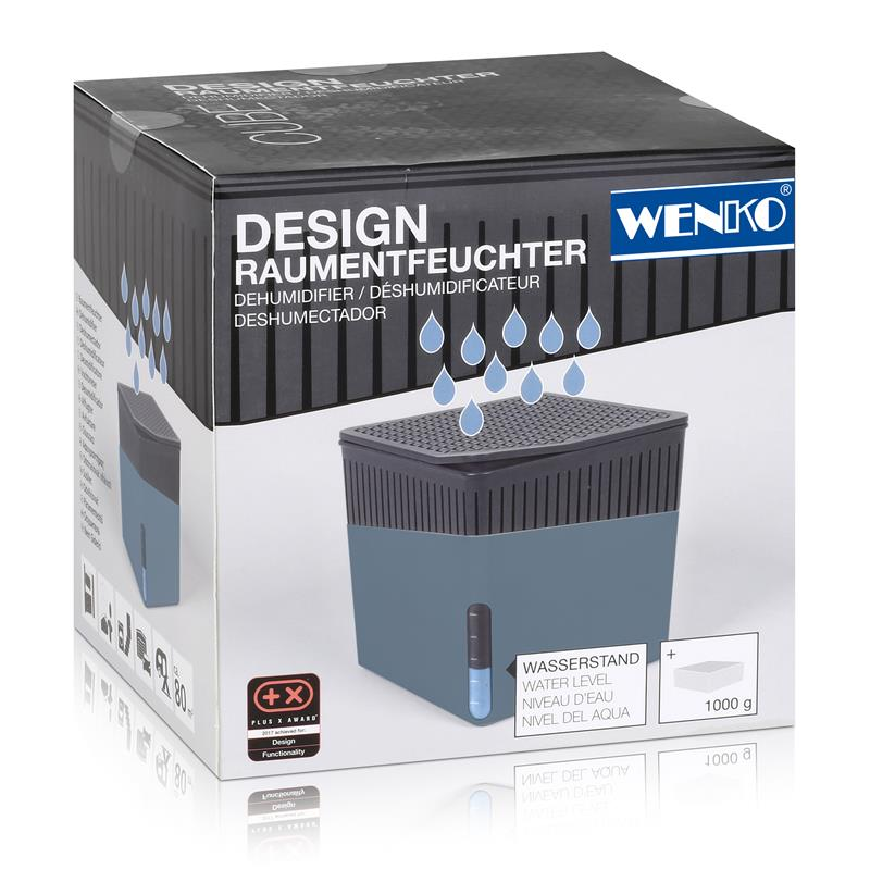 Wenko Luftentfeuchter Design Cube 1000g - Blau