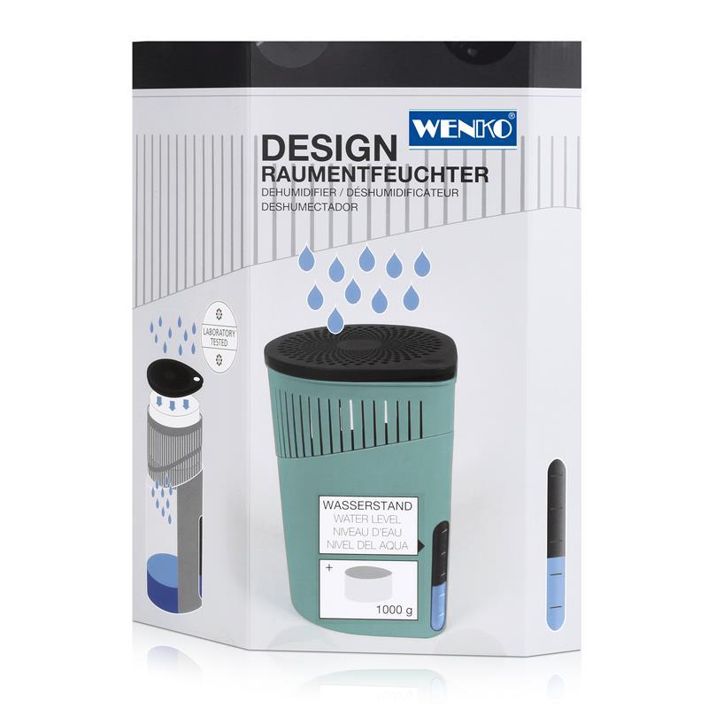 Wenko 50241100 Design Raumentfeuchter Drop 1000g - Türkis