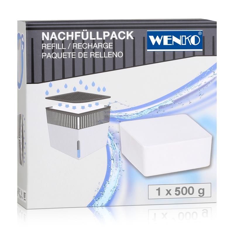 Wenko 50260100 Design Raumentfeuchter Cube Nachfüller 500g
