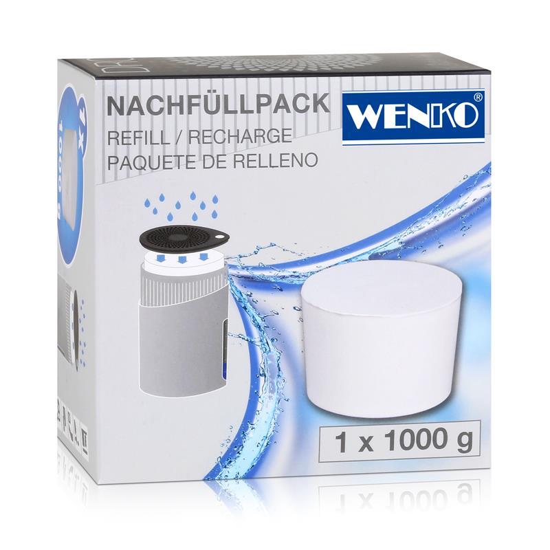 Wenko 50270100 Design Raumentfeuchter Drop Nachfüller 1000g (1er Pack)