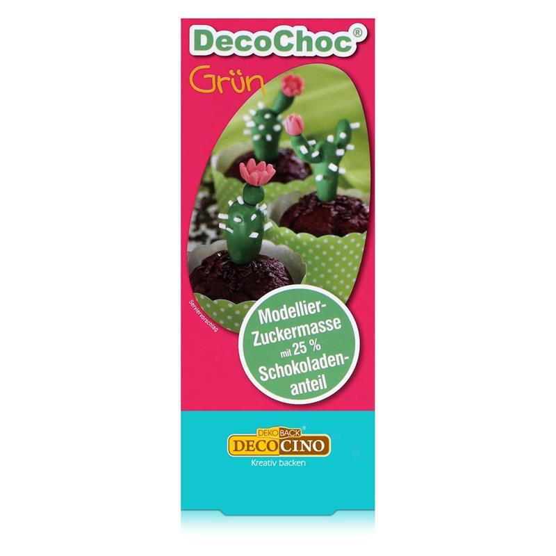 Dekoback Decocino DecoChoc Grün 100g - Modellier-Zuckermasse (1er Pack)