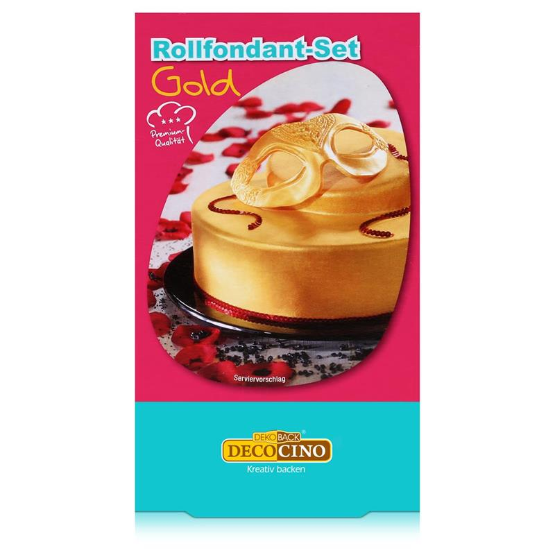 Dekoback Decocino Rollfondant-Set Gold 250g - Kreativ backen (1er Pack)
