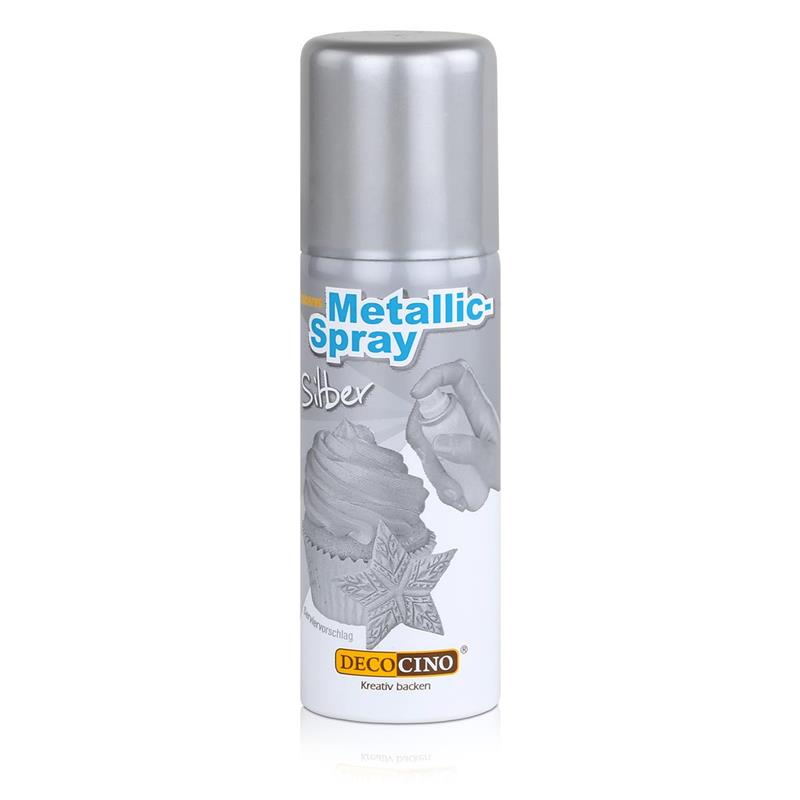 Dekoback Decocino Essbares Metallic-Spray Silber 50ml