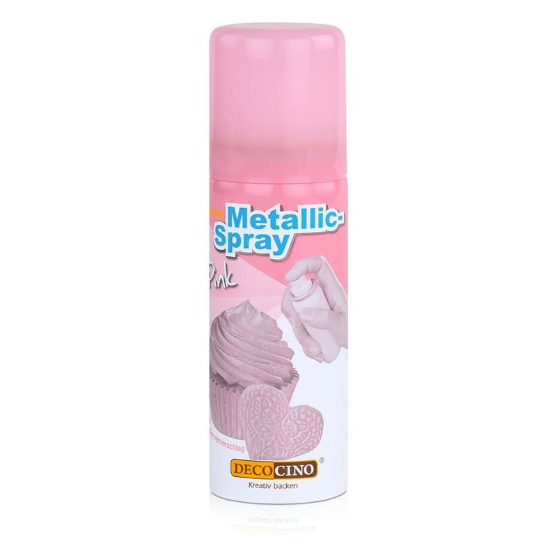 Dekoback Decocino Essbares Metallic-Spray Pink 50ml