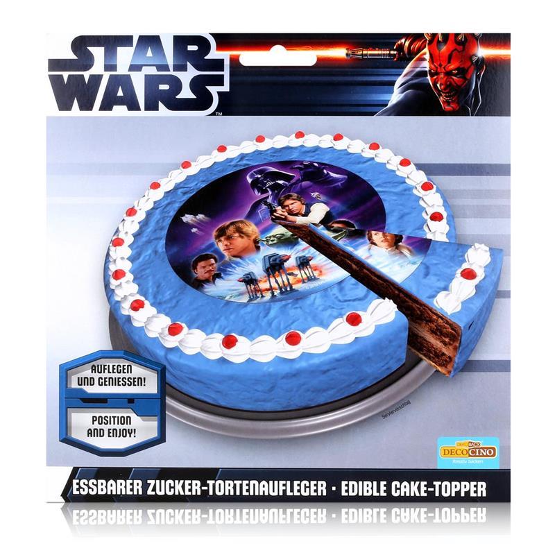 Dekoback Decocino Star Wars essbarer Zucker-Tortenaufleger 13g