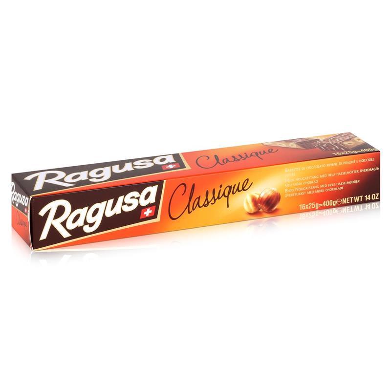 Ragusa Classique Schokolade-Riegel mit ganzen Haselnüssen 400g (1er Pack)