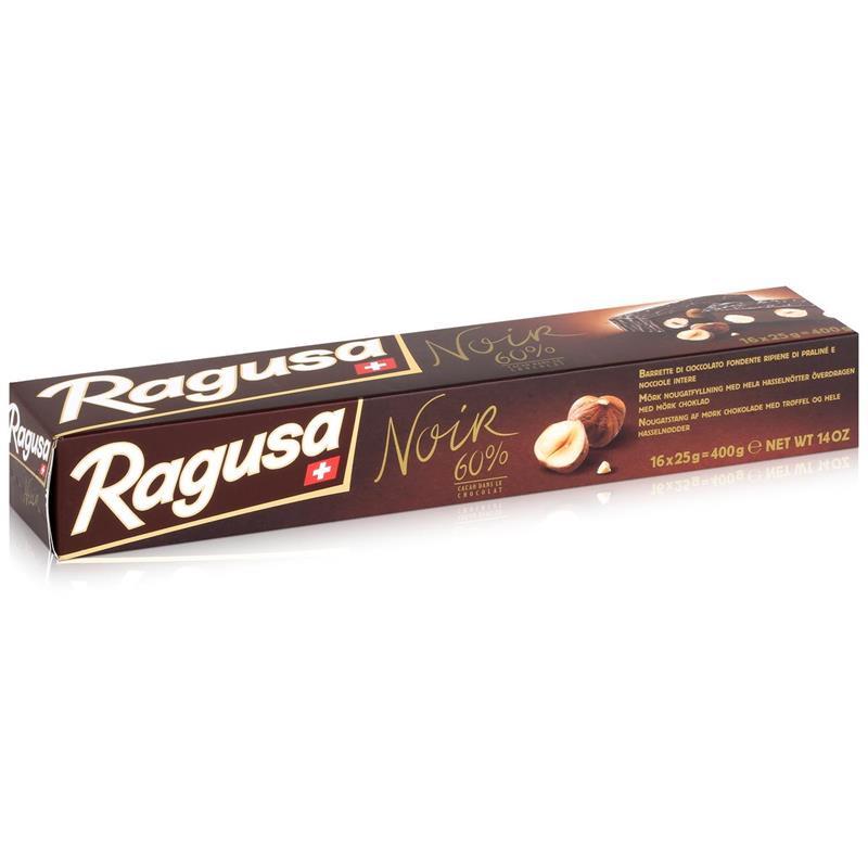 Ragusa Noir 60% dunkle Schokolade mit ganzen Haselnüssen 400g