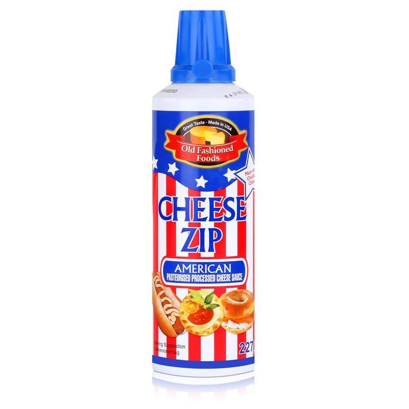 Old Fashioned Foods Cheese Zip 227g Amerikanischer Sprühkäse Cheddar