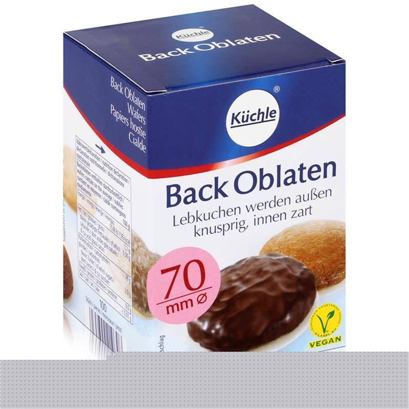 Küchle runde Back Oblaten 70mm Ø 71g - Lebkuchen bleiben innen zart (1er Pack)