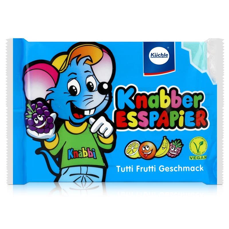 Küchle Esspapier blau Tutti Frutti Geschmack25g Essoblaten