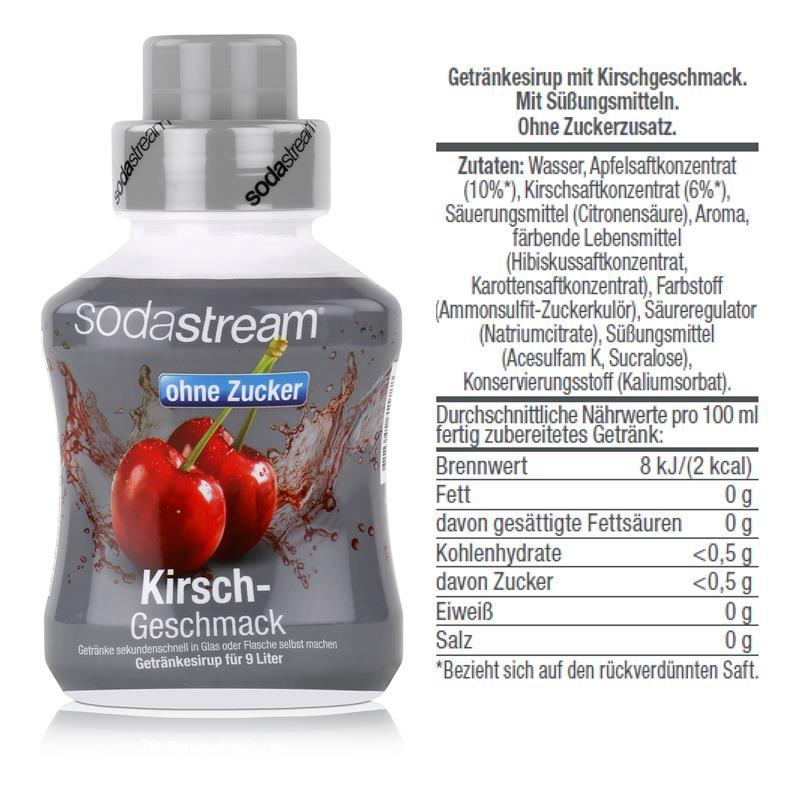 SodaStream Sirup Kirsch ohne Zucker 375ml