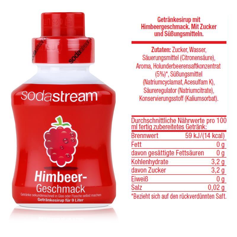 SodaStream Getränke-Sirup Softdrink Himbeer Geschmack 375ml