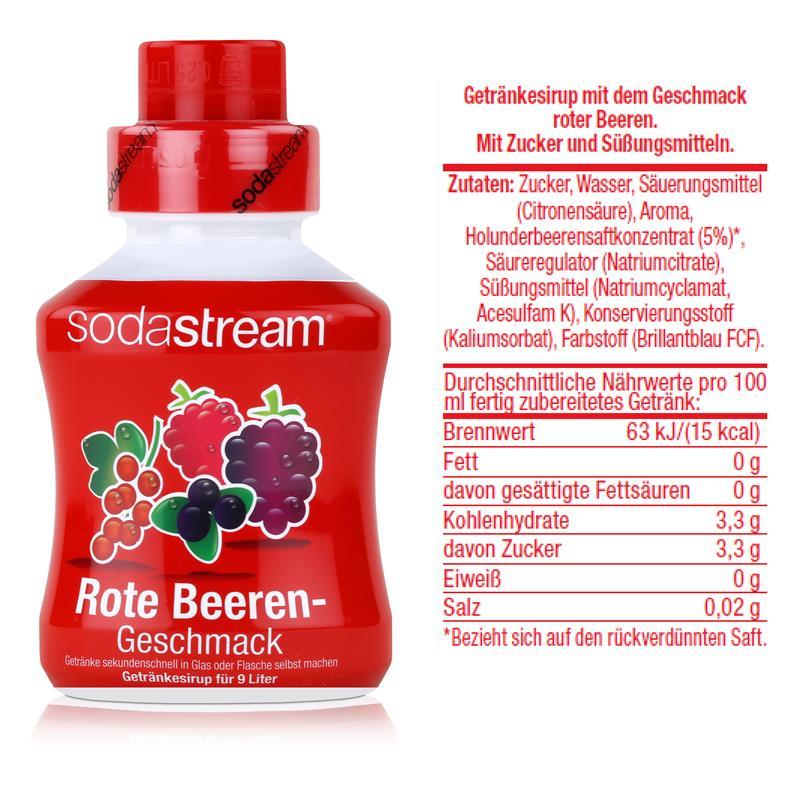SodaStream Getränke-Sirup Softdrink Rote Beeren Geschmack 375ml