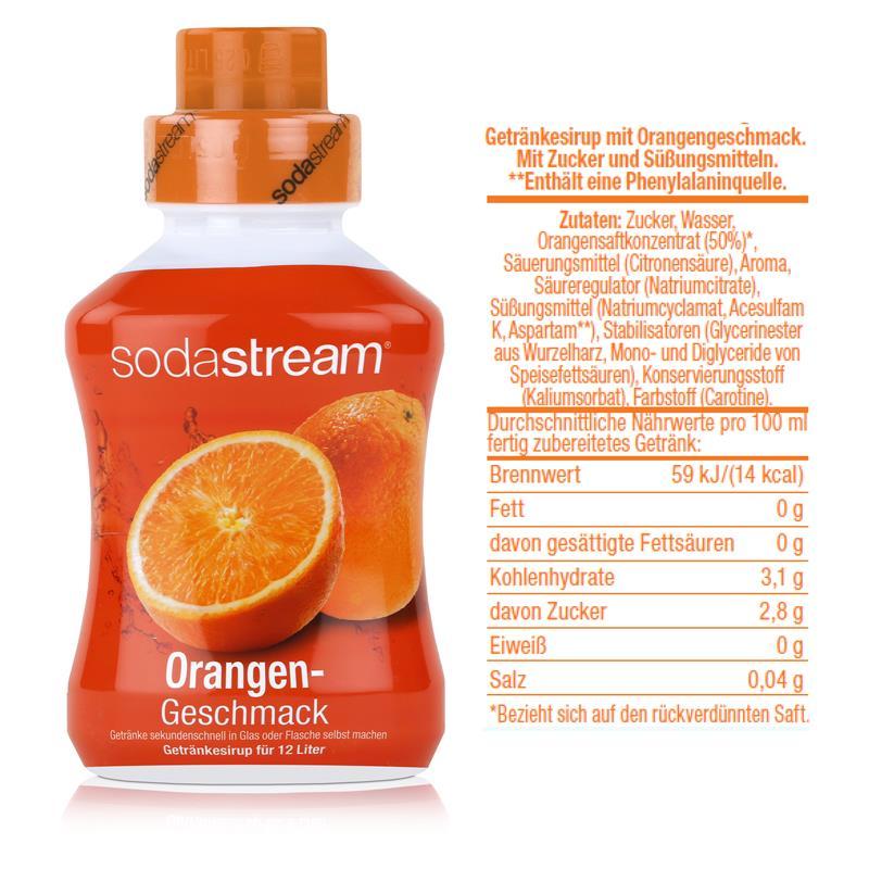 SodaStream Sirup Orange 500ml Flasche