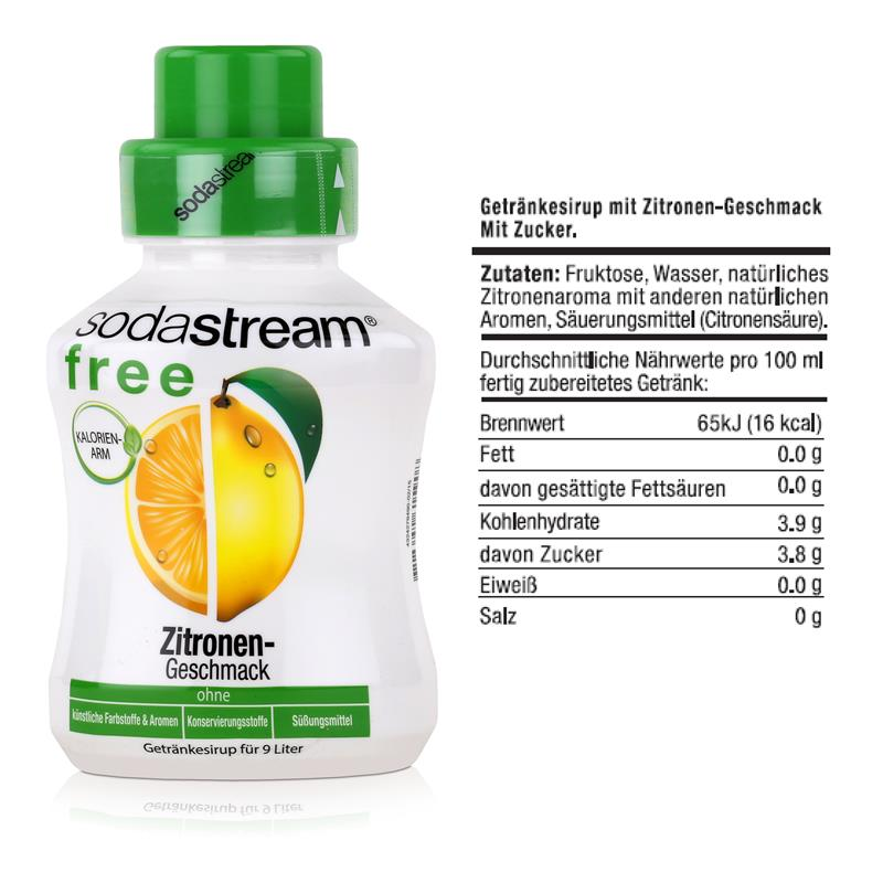 SodaStream Getränke-Sirup free Zitronen Geschmack 375ml (1er Pack)