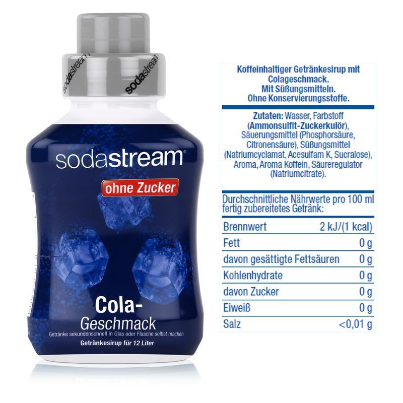 SodaStream Getränke-Sirup ohne Zucker Cola Geschmack 500ml (1er Pack)